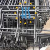 電流を通された溶接された網パネル