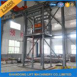 商品の縦のガイド・レールのエレベーターの油圧倉庫の貨物上昇の価格