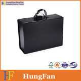 Rectángulo de papel plegable plegable plegable del conjunto de lujo negro del regalo