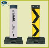 Verkehr Panel Delineator Board Delineator Bollard mit Rubber Base