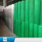 El PVC cubrió el cuadrado del alambre/el acoplamiento soldados galvanizados del cercado para la jaula de pájaro
