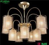 Chinesische Glasdecken-Eisen-Leuchter-Beleuchtung mit Cer-Bescheinigung D-8151/6+3