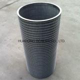 Invertida cuña envuelto alambre del pozo de agua Pantallas Cilindro de filtro industrial