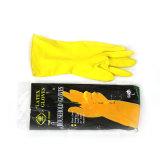 Перчатки домочадца латекса (желтый цвет)