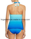 Gradient Colors Swimsuit for Women, Sex Lady's One-Piece Swimming Wear