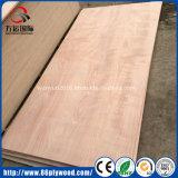 madeira compensada comercial laminada Okoume lixada dobro de 18mm para Wardrobes
