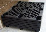 Poids léger Nestable PEHD recyclé fait palette plastique pour une fois l'utilisation d'exportation