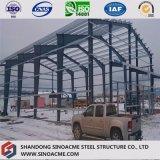 Atelier de deux étages préfabriqué de structure métallique avec l'écran