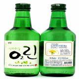 De groene Fles van de Alcoholische drank van Soju van de Kleur, de Fles van de Wijn van de Rijst