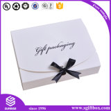 Rectángulo de regalo de papel de empaquetado de papel de encargo al por mayor de la cinta