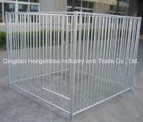 Tube carré/cage enduite de crabot galvanisée par tube rond de treillis métallique de /PVC