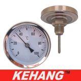 2,5 polegadas de água quente Industrial Bimetal Termômetro Medidor de Temperatura