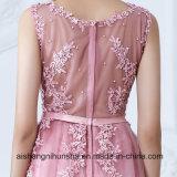 Платье свадебного банкета платьев вечера Tulle шнурка женщин длиннее официально