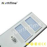 Indicatore luminoso di via Integrated caricato energia solare con il sensore di movimento