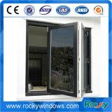 Алюминиевый корпус с двойными стеклами стеклянные окна складывания с грилем дизайн