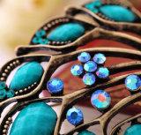Colori del Brooch 2 poco costoso del pavone fissate nuovo retro diamante delle donne della lega
