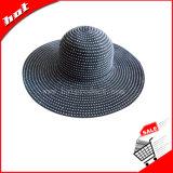 Chapéu da fita, chapéu flexível, chapéu das mulheres, chapéu da forma