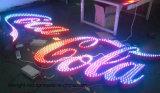 Canal de publicidad exterior firmar cartas RGB LED iluminado utiliza /firmar cartas