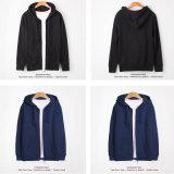 Revestimento de jaqueta com capuz de alta qualidade com fecho de correr