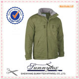 20107의 최신 판매 우연한 방풍 폴리에스테 직물 남자 겨울 재킷