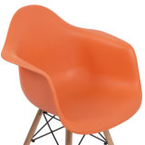 Silla de plástico de la moda de comedor al aire libre muebles silla