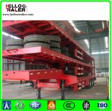 반 100 톤 거위 목 모양의 관 낮은 침대 트레일러 Lowboy 트럭 트레일러