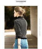 女性のカシミヤ織のセーターの円形の首16brdw010