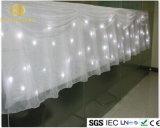 rideau ignifuge en étoile du scintillement DEL de 4 * 6 M pour le contexte d'étape d'Eevnts de noce