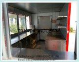 小さい食糧販売のキオスクが付いている屋外のファースト・フードの移動式台所トレーラー