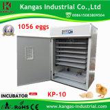 Oeuf commercial automatique des incubateurs 1056 d'oeufs de certificat de la CE