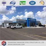 Système préfabriqué de marchand de véhicule de structure métallique