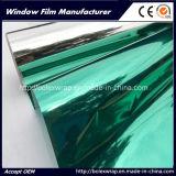 Green Silver Reflective Film One Way Mirror Solar Control Building Window Film
