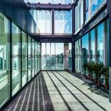 Vetro di costruzione isolato laminato riflettente Basso-e del galleggiante Tempered ultra chiaro