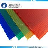 Cuatro colores del panel de techos de policarbonato hueco con 50um barniz UV