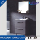Étage neuf restant des meubles de Module de salle de bains de PVC avec le miroir