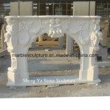 Camino di pietra bianco del marmo della scultura (SY-MF004)