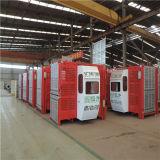 Elevatore della costruzione dell'elevatore della gru del carico della gabbia della fabbrica 2t della Cina doppio