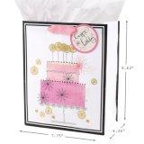 Bolso de papel del regalo de Brithday, bolsa de papel, bolsa de papel que hace compras, bolsa de papel revestido brillante