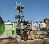 Raffinage du pétrole brut de la machinerie d'obtenir la couleur de l'huile diesel peu profonde
