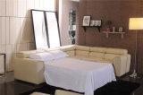 Ledernes Sofa, das Recliner-Möbel schiebt