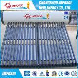 Calefator de água solar da tubulação de calor de 20 câmaras de ar