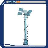 tour légère montée verticale lumineuse Pôle léger de mât télescopique de système de d'éclairage de 5.5m DEL