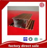 Cor de madeira da estrutura do perfil de alumínio para revestimento em pó Porta, Thermal Break, anodização