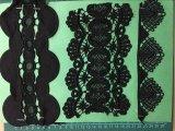 Couleur noir polyester de bonne qualité de la Dentelle Ym-1121