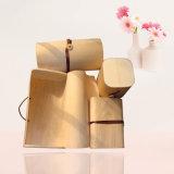 Caixa de presente de madeira colorida macia do pacote do laço do lenço da forma para presentes da promoção