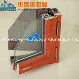 Perfil de aluminio del grano de la protuberancia de madera de la transferencia para el marco de ventana de aluminio