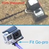 可聴周波ケーブルのSmartphoneのための防水ワイヤーで縛られたSelfieの棒そして防水袋