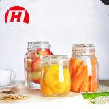 واضحة طعام تخزين مرطبان/مرطبان زجاجيّة مع معدنة مشبك