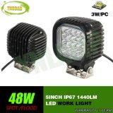 CREE 5inch 48W de la luz del trabajo del camino LED para el jeep