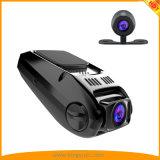 Mini câmera larga escondida do traço do ângulo de FHD 1080P 170 com o carro duplo DVR da came do carro